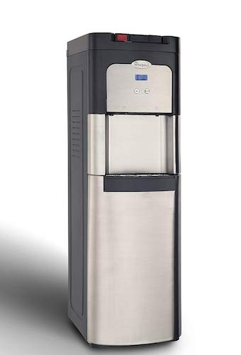 5. Whirlpool Bottom Loading Commercial Water Cooler with Ice Chilled and Steaming Hot Water in Stainless Steel