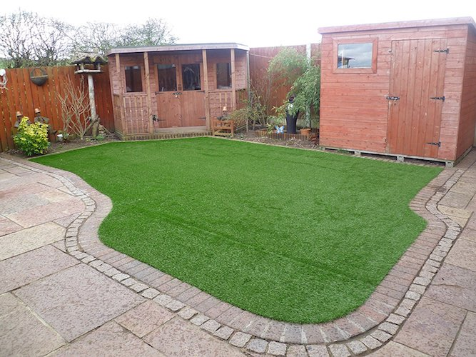 7. Artificial lawn 8' x 12' Synthetic Turf Fake Grass Indoor Outdoor Landscape Pet Dog Area