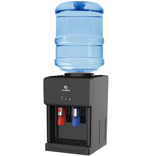 3. Avalon Premium Hot/Cold Top Loading Countertop Water Cooler Dispenser with Child Safety Lock. UL/Energy Star Approved- Black