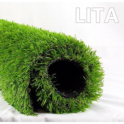 1. LITA Realistic Deluxe Artificial Grass Synthetic Thick Lawn Turf Carpet 5.5 FT x 6.5 FT (35 Square FT) -Perfect for indoor/outdoor Landscape