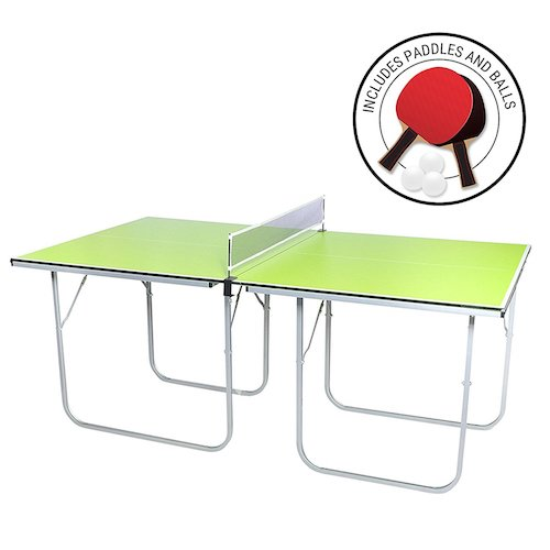 10. Milliard Mini-Pong Portable Tennis Table - 40 x 70 inches - Includes Net, Paddles, and Balls