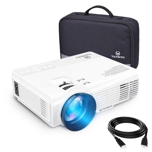10. vankyo LEISURE 3 (Upgraded Version) 2200 lumens LED Portable Projector with Carrying Bag, Video Projector with 170'' and 1080P Support, Compatible with Fire TV Stick, PS4, HDMI, VGA, TF, AV and USB