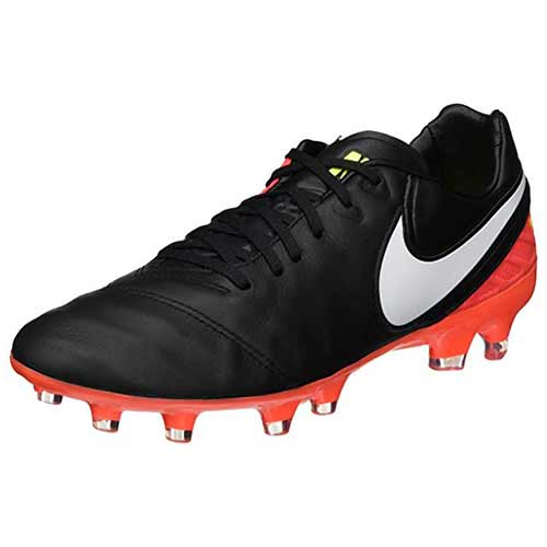 Best High Top Soccer Cleats: 6. NIKE Mens Tiempo Legacy II FG Soccer Athletic Cleats Black 8 Medium (D)