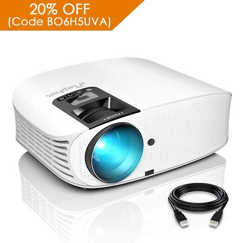 3. ELEPHAS 1080P HD LED Movie Projector, with 3500 Luminous Efficiency LCD Video Projector