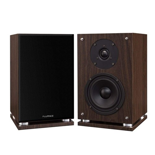 Best Bookshelf Speakers under 100 5. Fluance SX6W High Definition Two-Way Bookshelf Loudspeakers - Natural Walnut