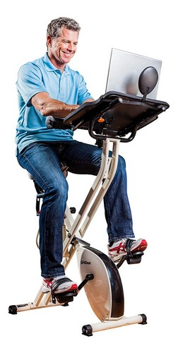 Best Upright Exercise Bikes 8. FitDesk Desk Exercise Bike and Office Workstation with Massage Bar