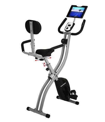 Best Upright Exercise Bikes 2. Innova XBR450 Folding Upright Bike with Backrest and iPad/Android Tablet Holder