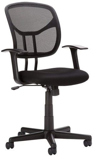 Best Ergonomic Office Chairs with Headrest 1. AmazonBasics Mid-Back Mesh Chair