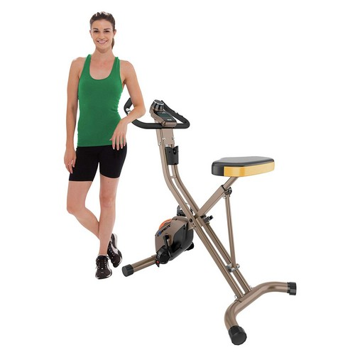 Best Upright Exercise Bikes 6. Exerpeutic GOLD 500 XLS Foldable Upright Bike, 400 lbs