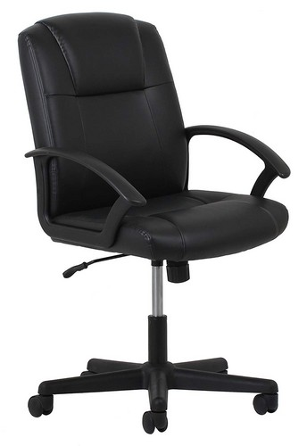 Best Ergonomic Office Chairs with Headrest 2. OFM Essentials Leather Executive Office/Computer Chair with Arms - Ergonomic Swivel Chair