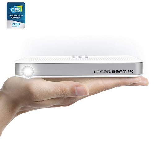 "10. Laser Beam Pro C200, FDA Assessed Class 1 Laser projector, Focus Fee 20-150"", HD 768P native resolution, 120 min rechargeable battery, compatible w/ HDMI support devices, built-in Internet, YouTube"