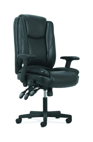 Best Ergonomic Office Chairs with Headrest 3. HON Sadie High-Back Leather Office/Computer Chair