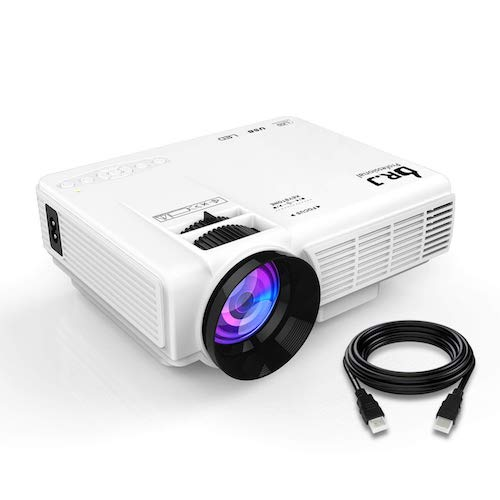 7. DR.J (2018 Upgraded) 4Inch Mini Projector with 170