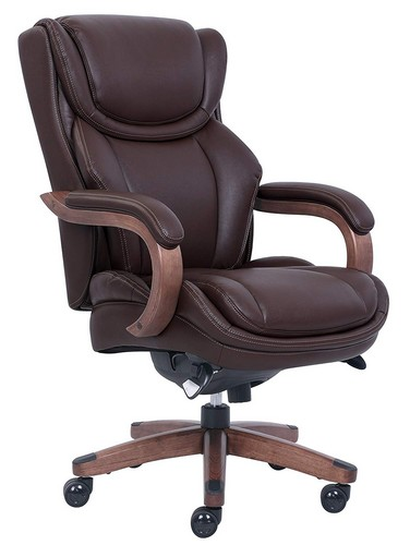 Best Ergonomic Office Chairs with Headrest 5. La Z Boy 46253B Big & Tall Executive Chair with Coffee Bonded Leather