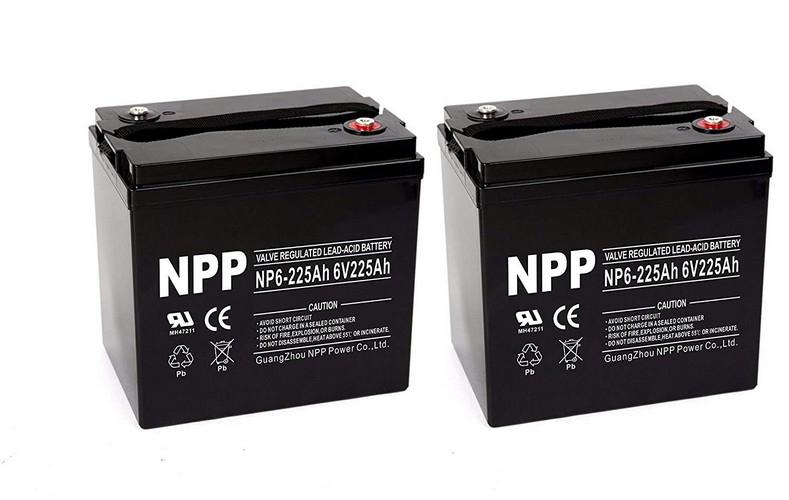 Best 6v Golf Cart Batteries 3. NPP 6V 225 Amp NP6 225Ah AGM Deep Cycle Battery Camper Golf Cart RV Boat Solar Wind Power / Pack 2