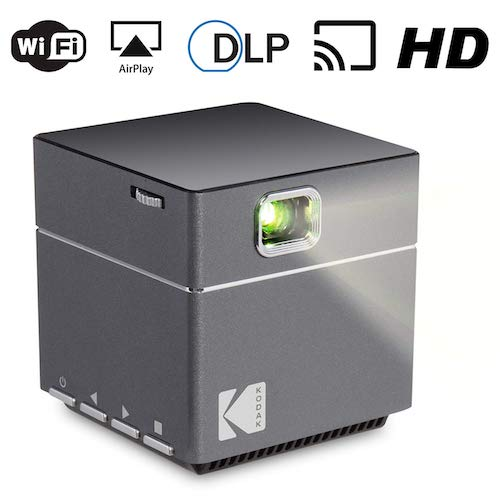 4. Kodak Wireless WiFi Portable Projector - DLP Pico LED 1080p HD Mini Projector - Supports Android Miracast, iOS Apple Airplay Phones and Devices - Rechargeable with Speakers - HDMI and Micro SD Card