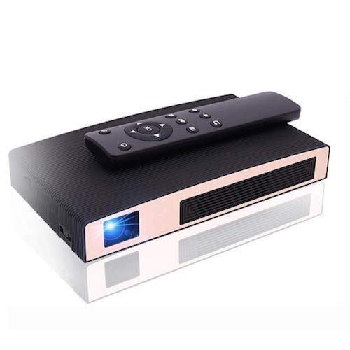5. Mini Projector(2018 Upgraded+80%lumens) MOTOU DLP Portable LED Projector HD 8400mAh Rechargeable battery Supports iPhone/Android Multimedia outdoor for party/business/home