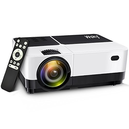 Best Projectors Under 200: Wsky 2018 Upgraded 2500 Lumens LCD LED Portable Home Theater Video Projector, 40000+ Hours Support HD 1080P for Outdoor Movie Night, Family, Compatible with Phone, DVD Player, PS4, XBOX, HDMI, USB, SD
