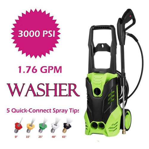 Best Electric Pressure Washers Under 200 5. Oanon 3000 PSI Electric High-Pressure Washer 1.76 GPM 1800W Electric Power Washer with 5 Quick-Connect Spray Tips (1800W)