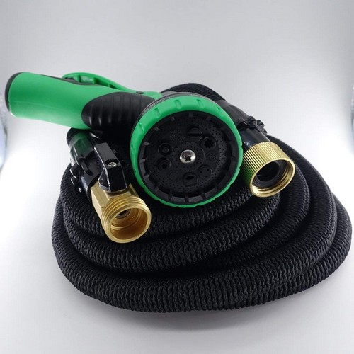 Best Expandable Garden Water Hoses 8. SUNRAR Expandable Garden Hose 100ft, Flexible Expanding Hose with 9 Multifunctional Nozzle, Strongest Retractable Water Hose with Double Layer Latex.