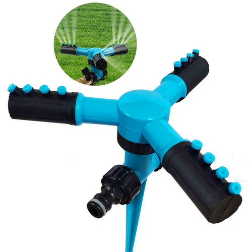 Best Lawn Sprinklers for Low Water Pressure 9. fibevon Lawn Sprinkler, Automatic Adjustable Garden Water Sprinkler 360 Rotating Watering Lawn Irrigation System/Leak Free Durable 3 Arm Sprayers