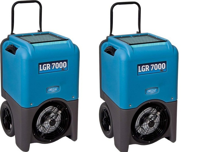 Best Dehumidifiers with Pump 9. Dri-Eaz LGR 7000XLi 29-gallon Compact Portable Refrigerant Dehumidifier