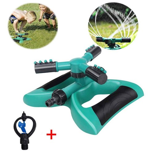 Best Lawn Sprinklers for Low Water Pressure 8. Lawn Sprinkler Automatic Sprinklers For Garden Water Sprinklers For Lawns 360 Rotating Adjustable Lawn Irrigation System Watering Sprinkler for Kids Covering Large Area Leak-Free Design Durable 3 Arm