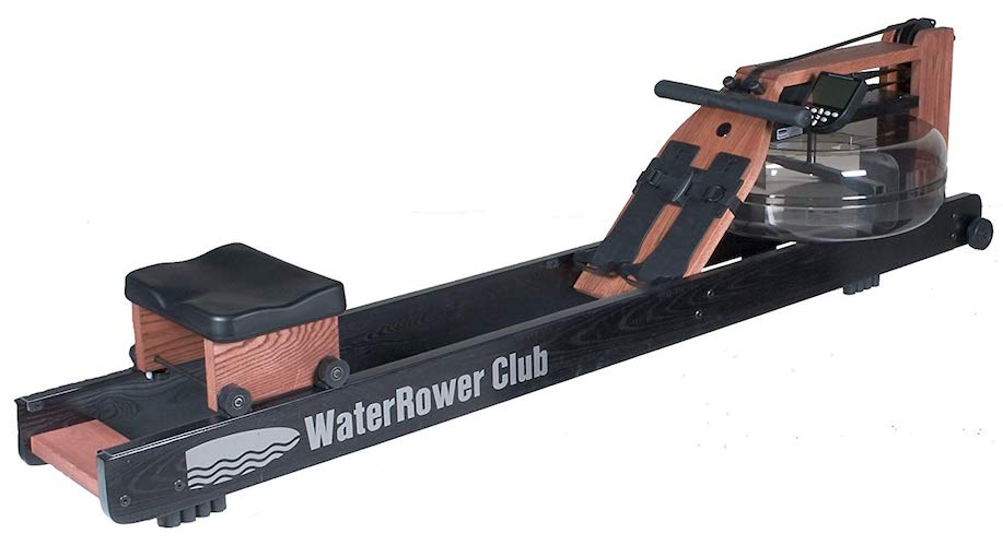7. Water Rower Club Rowing Machine in Ash Wood with S4 Monitor