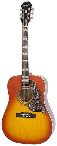 2. Epiphone HUMMINGBIRD PRO Solid Top Acoustic/Electric Guitar