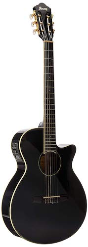 9. Ibanez AEG10NII Nylon String Cutaway Acoustic-Electric Guitar Black