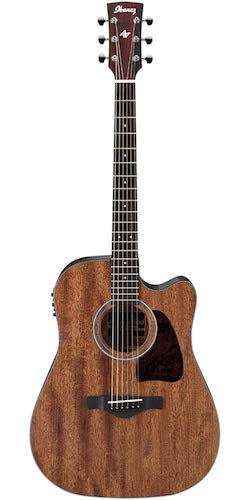 10. Ibanez AW54CEOPN Artwood Dreadnought Acoustic/Electric Guitar