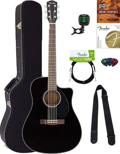 1. Fender CD-60SCE Dreadnought Acoustic-Electric Guitar