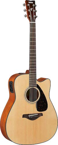 5. Yamaha FGX800C Solid Top Cutaway Acoustic-Electric Guitar