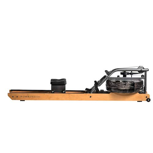 9. Pure Design Fitness Indoor Rowing Machine - Valor with Dual Rails with Steel Frame, Water Flywheel, and VR2 Monitor