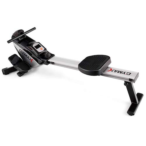 10. Goplus Magnetic Folding Rowing Machine Row Machine Rower Exercise Cardio Fitness Equipment W/ LCD Monitor
