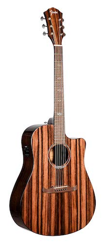 8. Fender T-Bucket 400CE Striped Ebony FSR Acoustic Electric Guitar