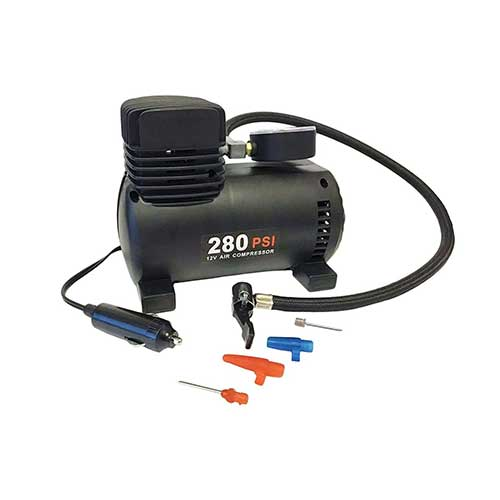 Best Heavy Duty 12v Air Compressors 7. Mini 12V Travel Air Compressor Camping Heavy Duty Tire Inflator Portable