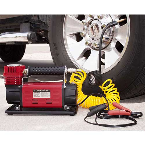 Best Heavy Duty 12v Air Compressors 4. SuperFlow 12V HD Air Compressor Tire Inflator
