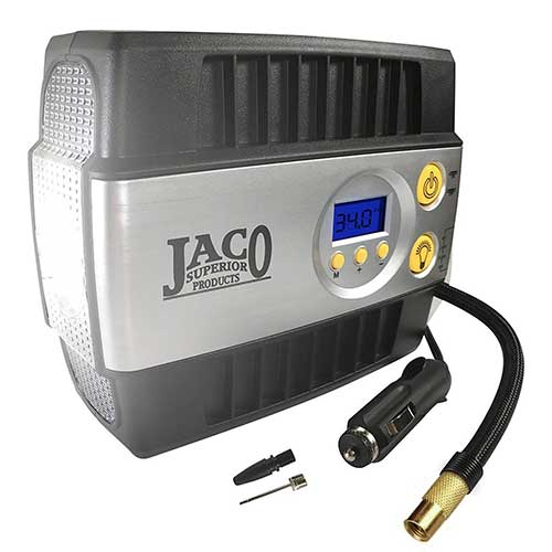 Best Heavy Duty 12v Air Compressors 3. JACO SmartPro Digital Tire Inflator Pump - Premium 12V Portable Air Compressor - 100 PSI