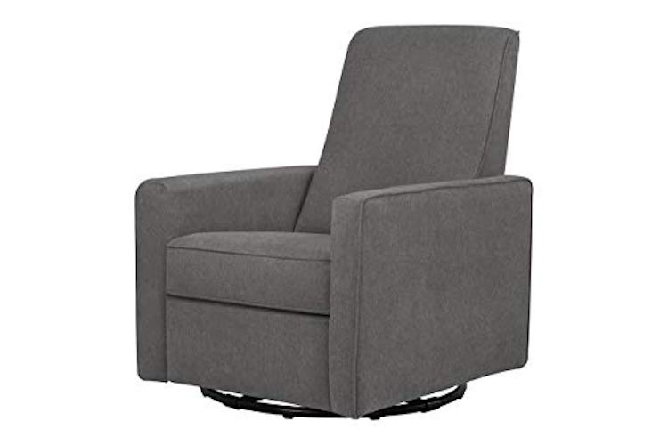 10. DaVinci Piper Recliner and Swivel Glider, Dark Grey