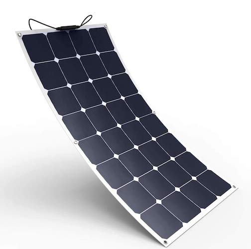 7. Solar Cynergy 120watt 12volt Monocrystalline Flexible-Bendable Solar Panel