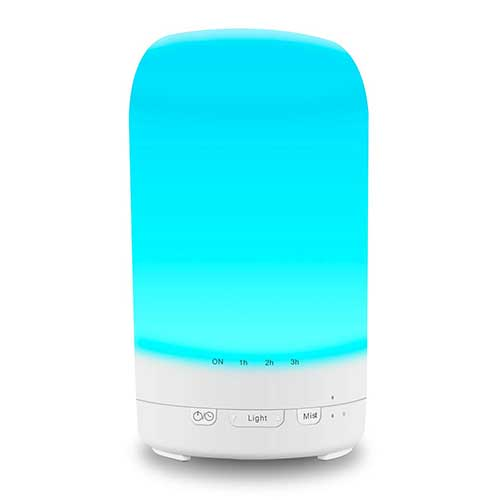 3. Bbymie essential oil diffuser Ultrasonic aroma white Humidifier 15hours Cool Mis - 200ml 24 Color Lights