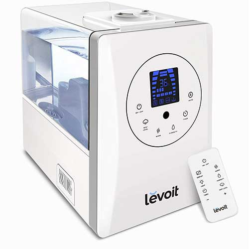Best Humidifiers for Babies 10. Levoit Humidifiers, 6L Warm and Cool Mist Ultrasonic Humidifier for Bedroom or Baby's Room