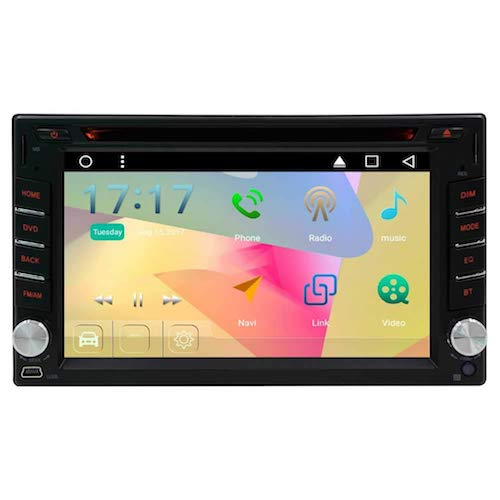 10. EinCar Android 6.0 Marshmallow 6.2 inch Head Unit Double Din Car Stereo Supports GPS Navigation Car DVD Player in Dash 2 Din Car Radio Bluetooth HD Capacitive Touch Screen Wi-Fi