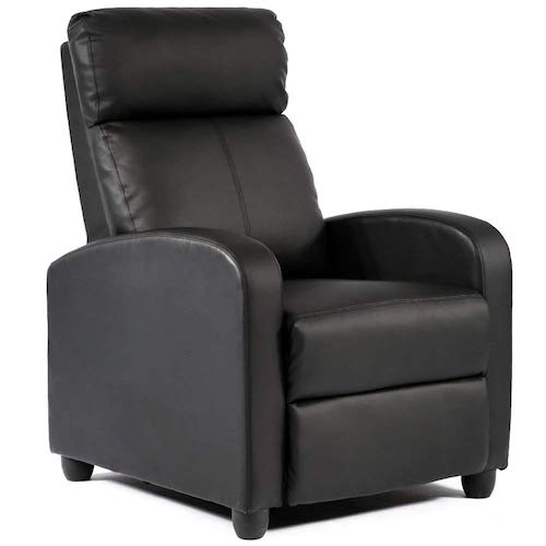 6. BestMassage Modern Leather Chaise Couch Single Recliner Chair Sofa Furniture
