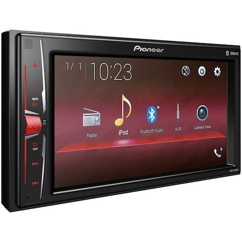 3. Pioneer MVH-200EX Double Din Bluetooth in-Dash Digital Media Car Stereo