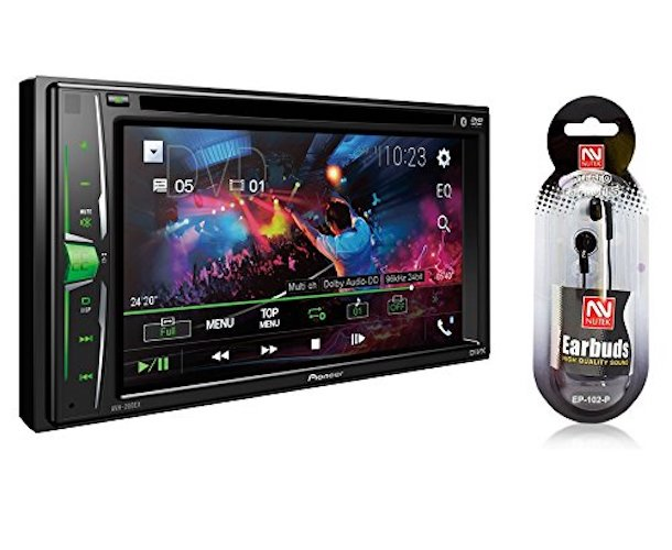 2. Pioneer In-Dash Double DIN 6.2