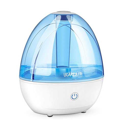 Best Humidifiers for Babies 6. Cool Mist Humidifier - Super Quiet Humidifier for Baby Office, All Night Moisture Ultrasonic Air Humidifier for Bedroom