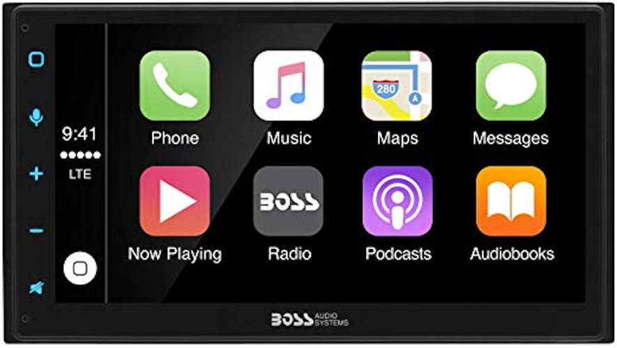 6. Boss Audio BVCP9675A Double Din, Apple CarPlay, Android Auto, Bluetooth, 6.75