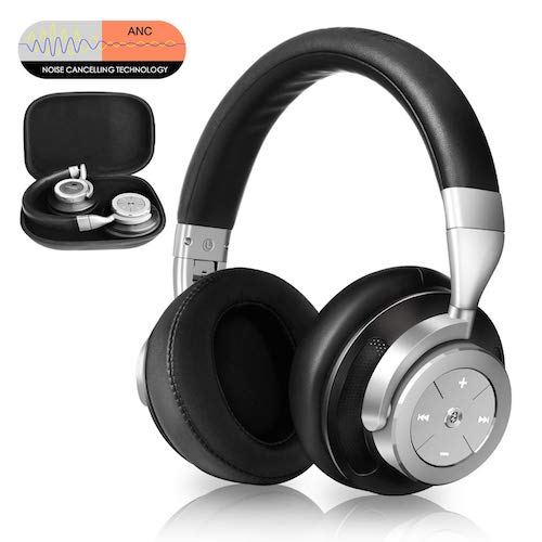 5. Noise Cancelling Bluetooth Headphones - Hi-Fi Stereo Deep Bass Over Ear Wireless Headphones